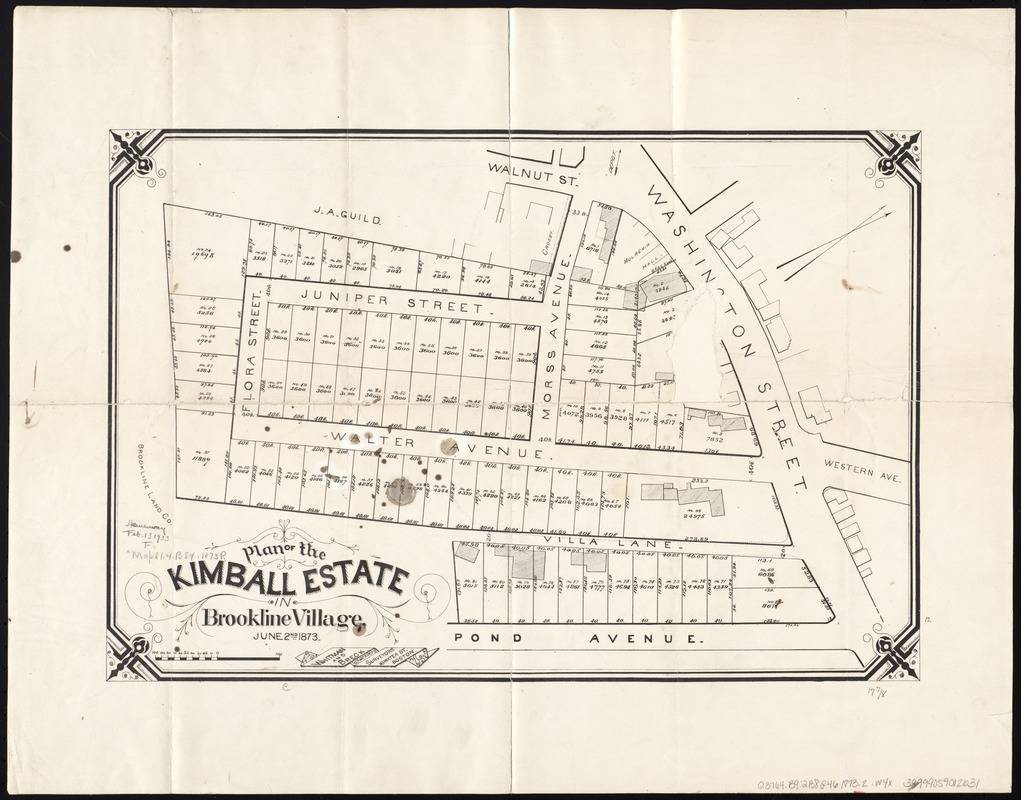 Plan of the Kimball Estate in Brookline Village