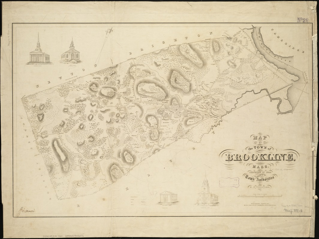 Map of the town of Brookline, Mass