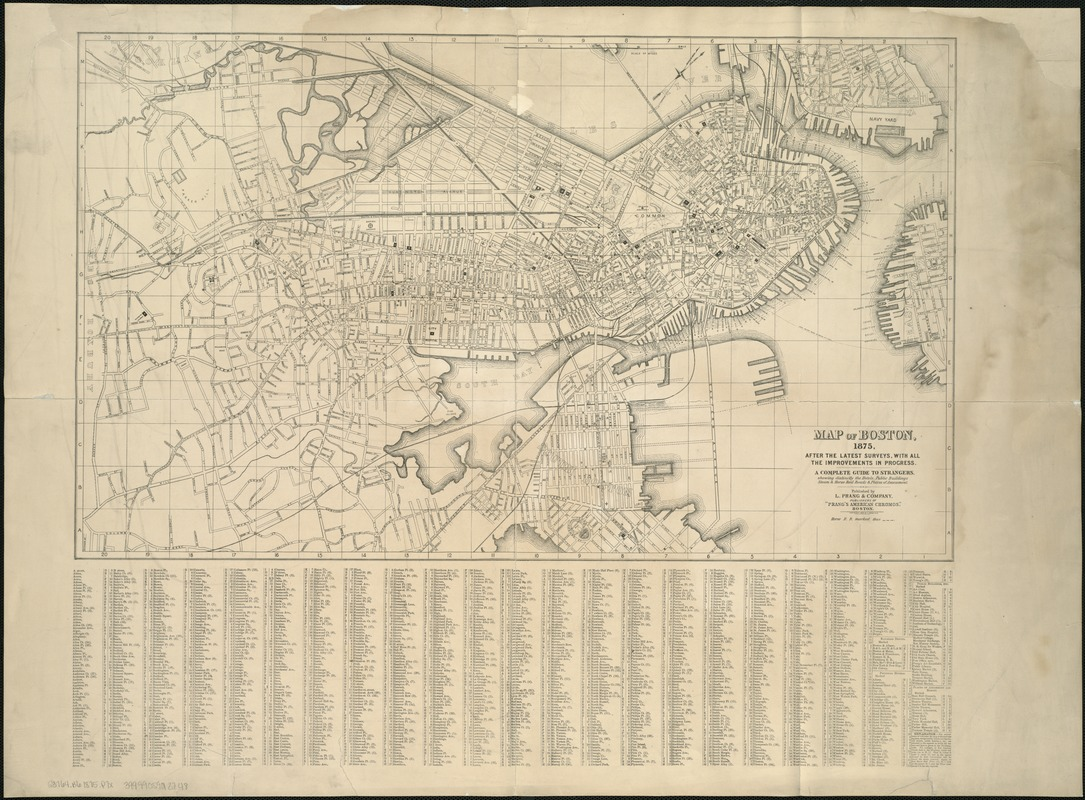 Map of Boston, 1875