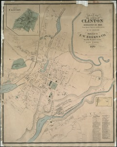 Plan of the towns of Clinton, Worcester Co. Mass