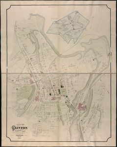 Map of Clinton Worcester Co. Mass