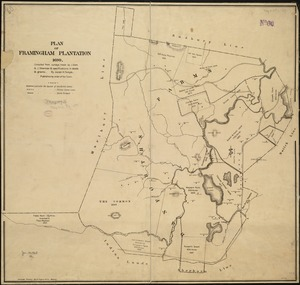 Plan of Framingham Plantation 1699