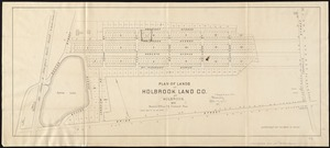 Plan of lands of Holbrook Land Co. at Holbrook 1872
