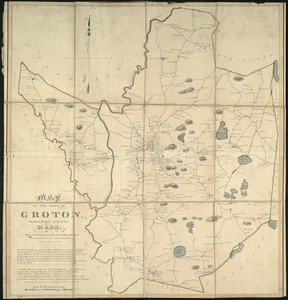 A map of the town of Groton, Middlesex County, Mass