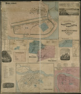 Combined map of Holyoke and Chicopee