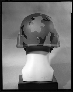 Armor branch, back view, Kevlar helmet