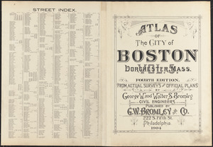Atlas of the city of Boston, Dorchester, Mass. ; street index