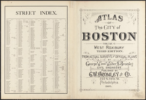 Atlas of the city of Boston : volume 6 : West Roxbury