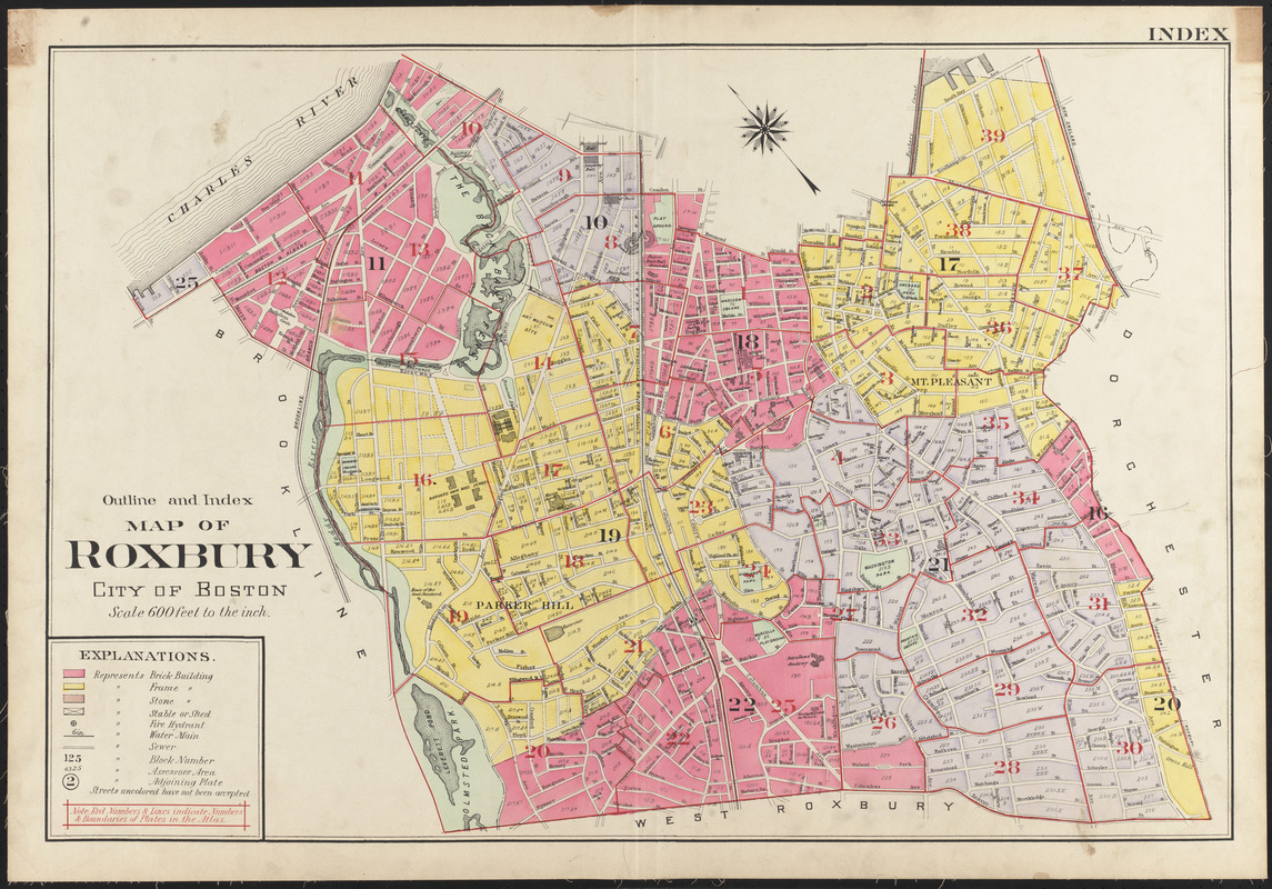 Outline and index map of roxbury city of boston digital commonwealth outline and index map of roxbury city of boston gumiabroncs Gallery