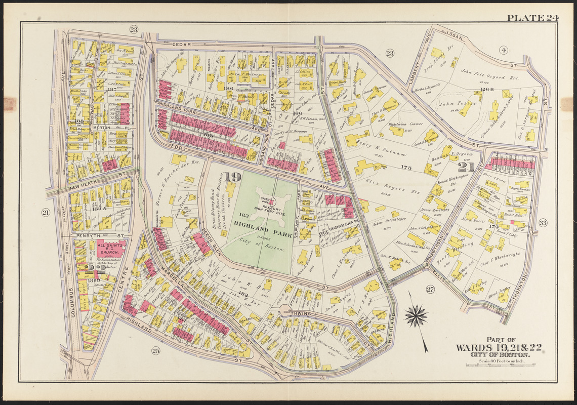 Atlas of the city of Boston, Roxbury