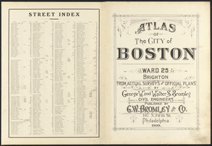 Atlas of the city of Boston : ward 25, Brighton