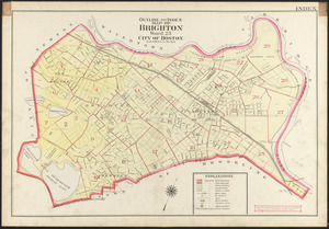 Outline and index map of Brighton, ward 25, city of Boston