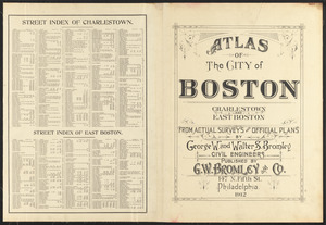 Atlas of the city of Boston : Charlestown and East Boston