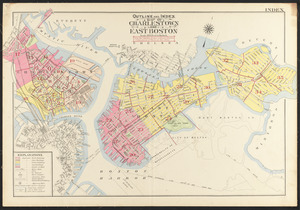 Outline and index map of Charlestown and East Boston