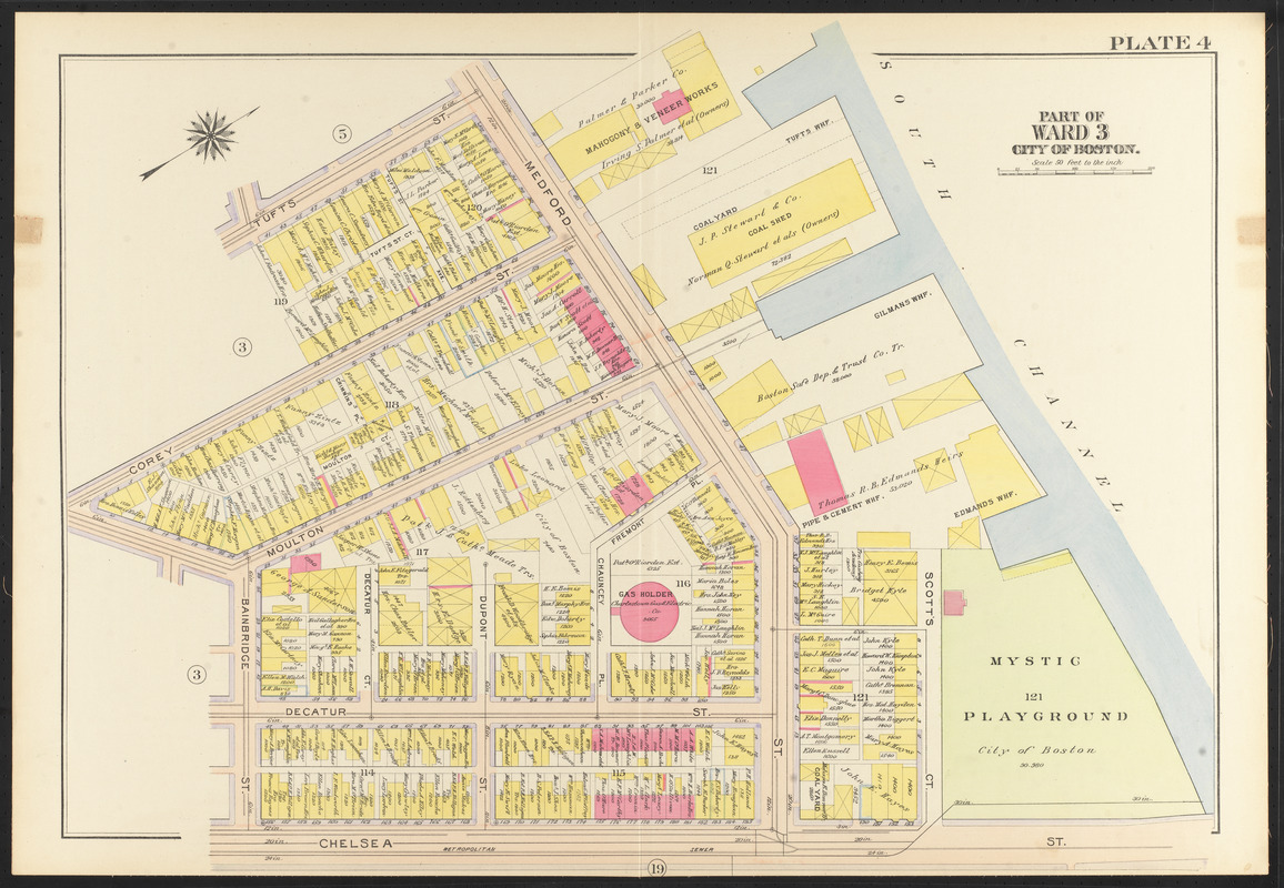 Atlas of the city of Boston, Charlestown and East Boston