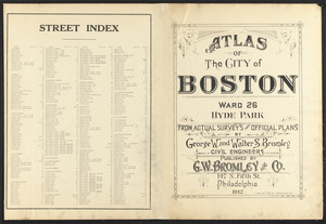 Atlas of the city of Boston : ward 26, Hyde Park