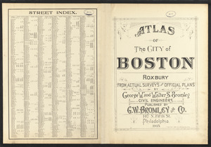 Atlas of the city of Boston, Roxbury ; street index