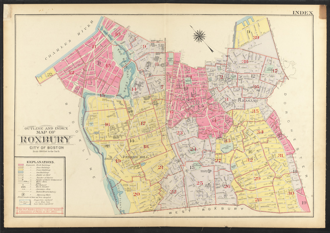 Outline and index map of Roxbury, city of Boston