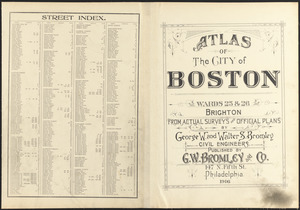Atlas of the city of Boston : wards 25 & 26, Brighton