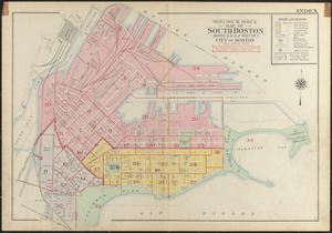 Outline & index map of South Boston, wards 9 & 10 and part of 11, city of Boston