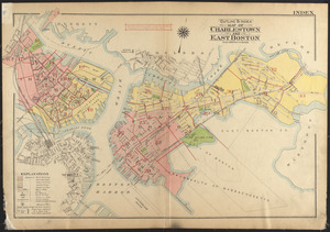 Outline & index map of Charlestown and East Boston