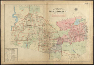 Outline and index map of West Roxbury, city of Boston