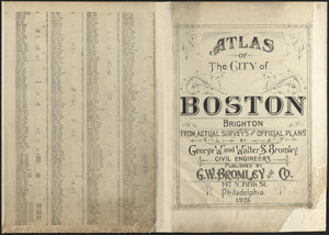 Atlas of the city of Boston : Brighton