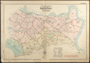 Outline and index map of Brighton, wards 21 and 22, city of Boston