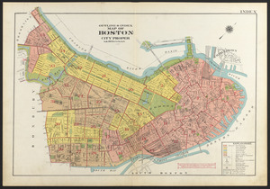 Outline & index map of Boston city proper