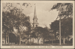 First Congregational Church and Village Green, Falmouth.