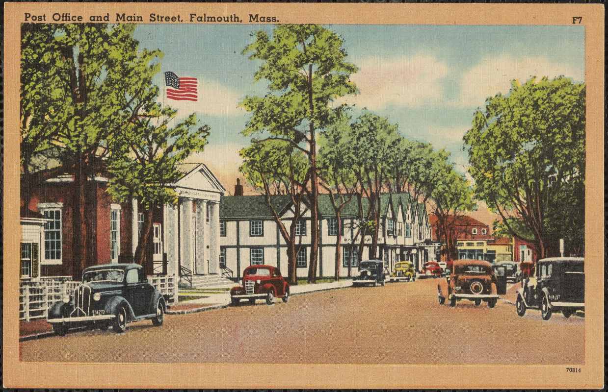 Post Office and Main Street, Falmouth, Mass.