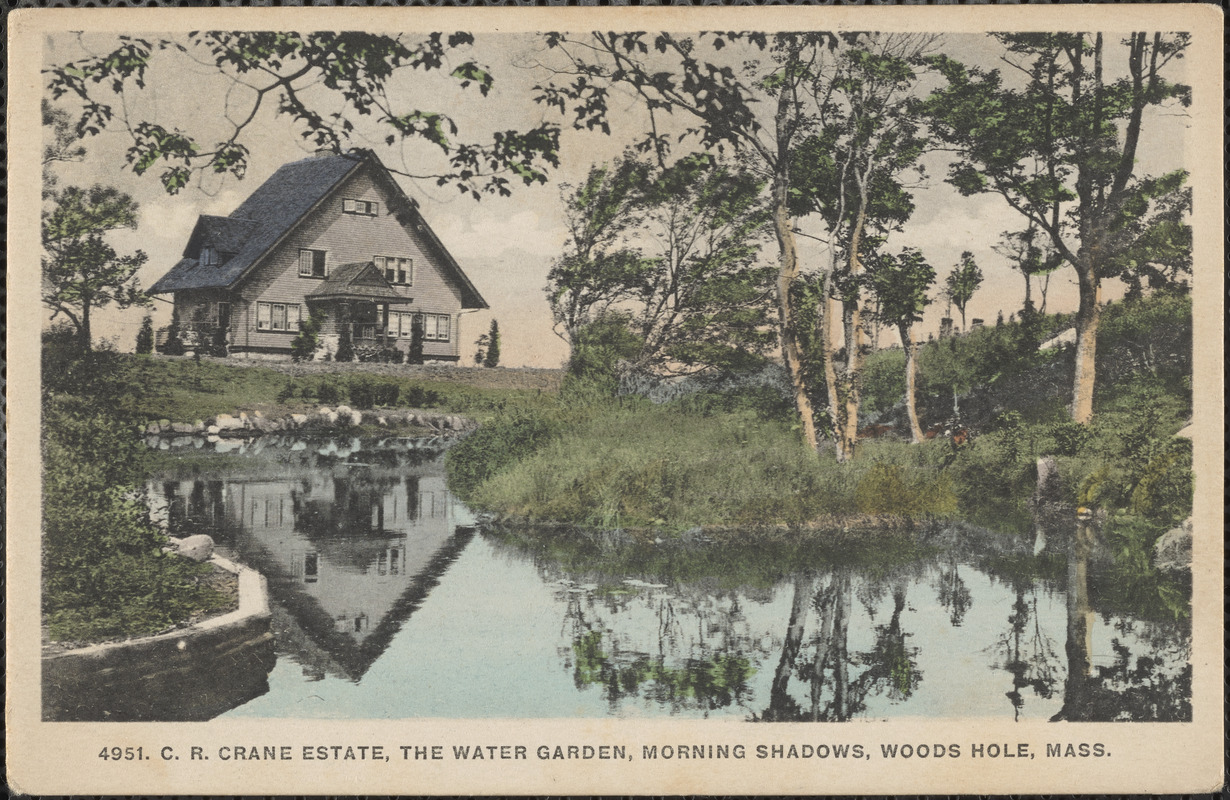 C. R. Crane Estate, The Water Garden, Morning Shadows, Woods Hole, Mass.