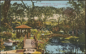 "F. R. Crane Estate. ""The Water Garden"" Woods Hole, Mass."