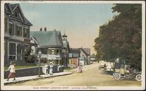 Main Street Looking West, Woods Hole, Mass.