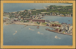 An aerial view of Woods Hole, Cape Cod, Mass.