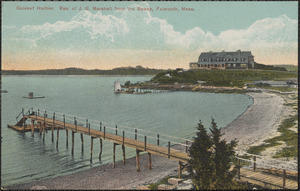Quisset Harbor. Res. of J. G. Marshall from the Beach, Falmouth, Mass.