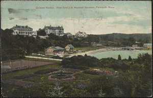 Quisset Harbor. View from J. G. Marshall Gardens, Falmouth, Mass.