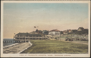 View at Falmouth Heights, Mass., Showing Casino.