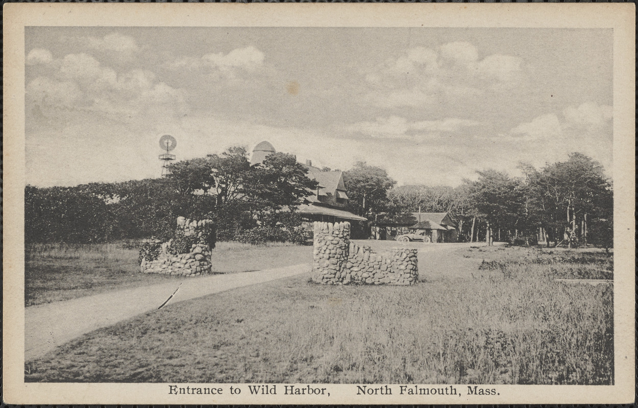 Entrance to Wild Harbor, North Falmouth, Mass.