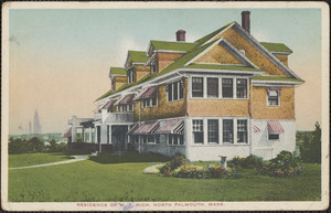 Residence of W. T. Rich, North Falmouth, Mass.