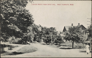 Looking North from Depot Ave., West Falmouth, Mass.