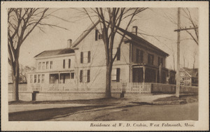 Residence of W. D. Cashin, West Falmouth, Mass.