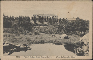Fasset Estate from Beach Drive, West Falmouth, Mass