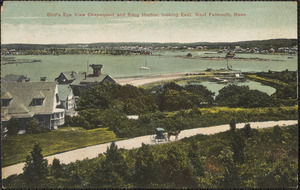 Bird's Eye View Chapoquoit and Snug Harbor, looking East, West Falmouth, Mass.
