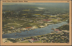 Aerial View, Falmouth Harbor, Mass.