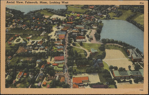 Aerial View, Falmouth, Mass., Looking West