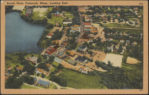Aerial View, Falmouth, Mass., Looking East