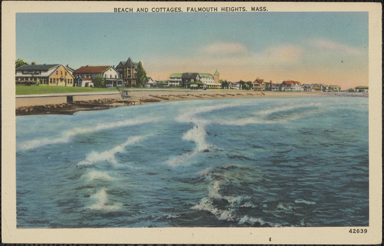 Beach and Cottages, Falmouth Heights, Mass.