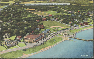 Aerial View, Falmouth Heights, Cape Cod, Mass.