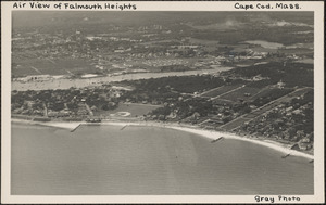 Air View of Falmouth Heights, Cape Cod, Mass.
